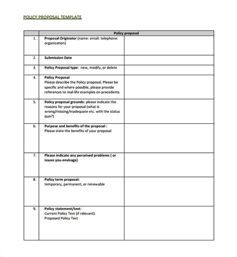 Change Policy Template by Sle Policy Template 10 Free Documents In Pdf