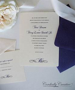traditional wedding invitation with initial shown in With wedding invitation rsvp language