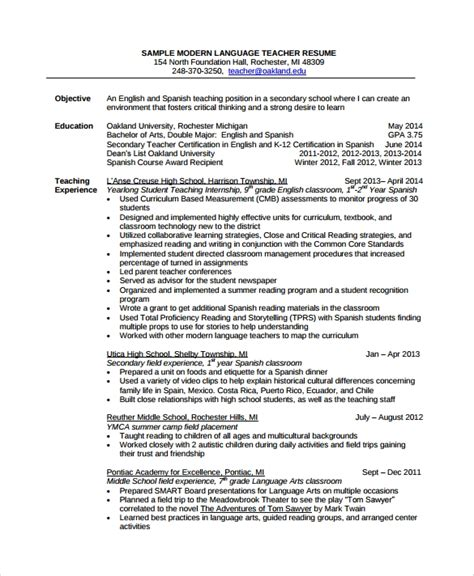 sample tutor resume templates   word