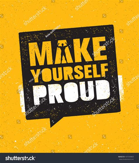 Make Yourself Proud Workout Fitness Gym Stock Vector