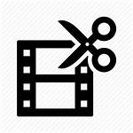 Icon Edit Film Cut Editor Scissors Strip