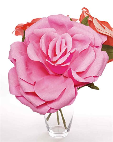 giant paper rose crepe paper roses martha stewart