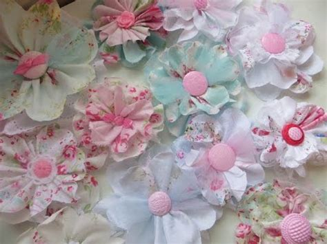 shabby fabric flowers chic and cheap shabby cute fabric flowers youtube
