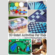 Learn With Play At Home 10 Quiet Activities For Kids