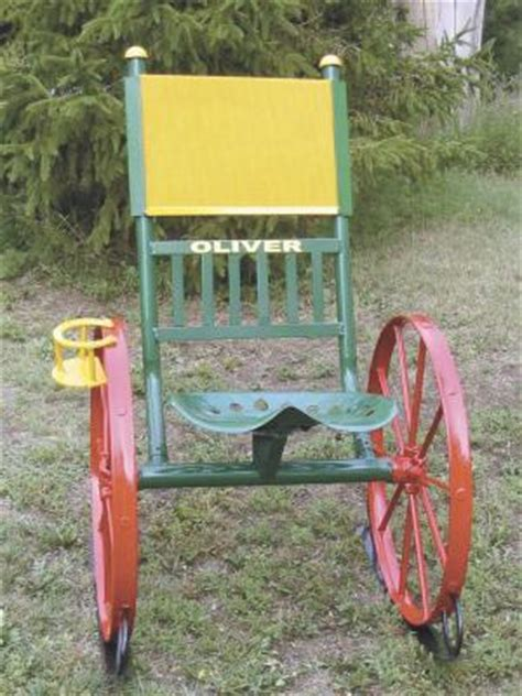 Tractor Supply Wooden Rocking Chairs by Farm Show Farm Equipment Chairs Rock On Steel Wheels