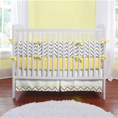 gray and yellow zig zag crib bedding modern baby