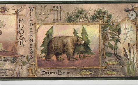 animals framed  sticks wallpaper wall border rustic