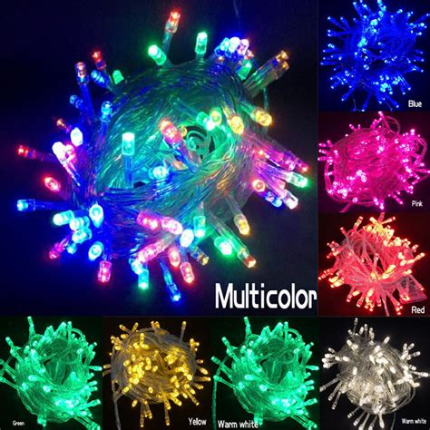 shipping holiday outdoor rgb led string lights