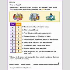 Answer True And False Questions About Jesus Crucifixion And Resurrection  For Kids He Is Risen