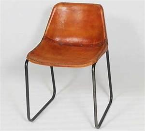 Chaise Industrielle Metal : chaise industrielle cuir et metal made in meubles ~ Teatrodelosmanantiales.com Idées de Décoration