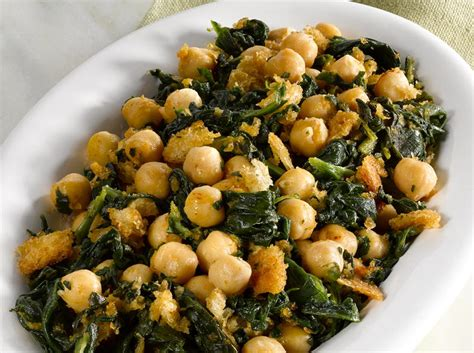 Chickpeas With Spinach  Cookstrcom
