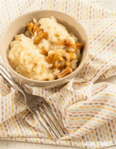 recette cuisine saine recette sans gluten risotto de girolles cuisine