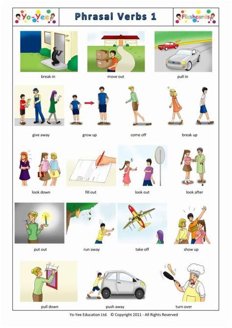 phrasal verbs flash cards  children  teaching