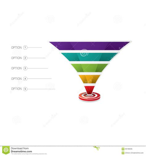 marketing funnel template vector sales funnel stock vector image 69196035