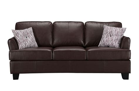 Leather Loveseat Sleeper Sofa by Brand Furniture Brown Faux Leather Size Sofa