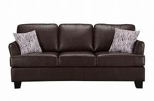 kings brand furniture brown faux leather queen size sofa With queen hide a bed sofa