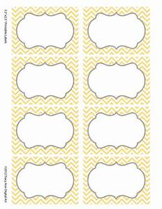 Chevron Labels Print Your Own Labels Yellow And Grey
