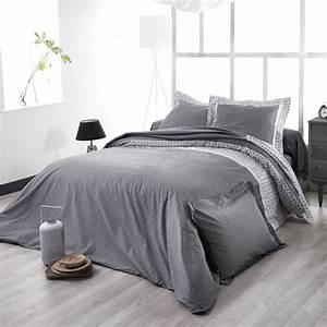Parure De Lit Noir : parure de lit wesley noir satin de coton hc 260x240 2to ~ Melissatoandfro.com Idées de Décoration