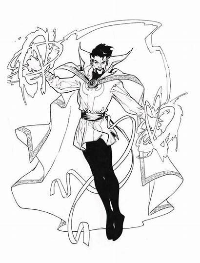 Strange Dr Coloring Marvel Avengers Doctor Pichelli