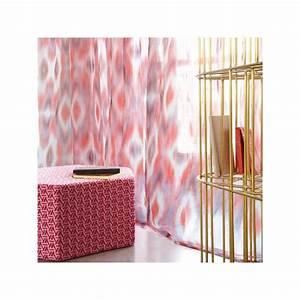 Rideau Voilage Rouge : rideau voilage miami rouge lelievre d co en ligne rideaux design ~ Teatrodelosmanantiales.com Idées de Décoration