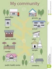 Community Places Clip Art