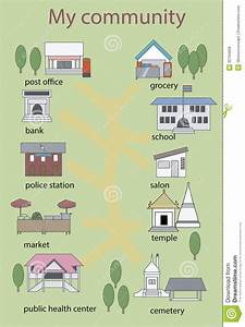 Places clipart preschool building - Pencil and in color