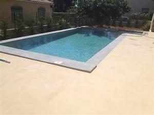 Beton Ciré Piscine : construction piscine marinal b ton avec plage d 39 angle et pourtour piscine enduit effet b ton ~ Melissatoandfro.com Idées de Décoration