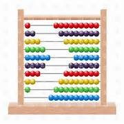 School wooden abacus with rainbow colored beads, download royalty-free ...