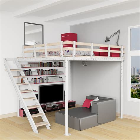 lit superposé avec bureau intégré conforama diy loft bed kit expand furniture