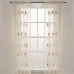 fleur de lis sheer window curtain panel from bed bath beyond