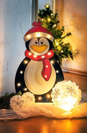 pinguin mit beleuchtung aus holz gratis anleitung