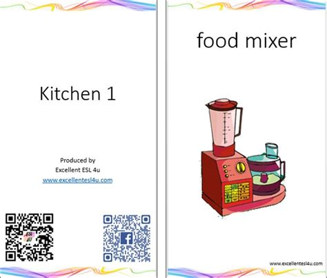 esl kids kitchen vocabulary