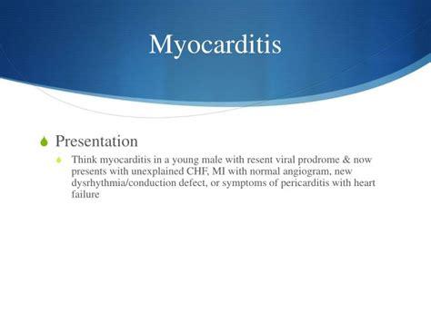cardiomyopathy  myocarditis powerpoint
