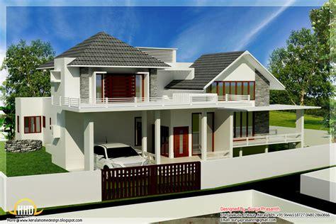 contemporary mix modern home designs kerala home design  floor plans  houses