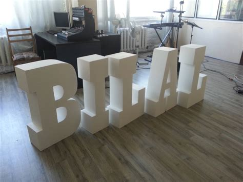 Standing Letter Decor - styrofoam letters letters 30 inches large free