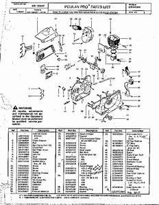 Poulan Pro 425 445 505 Chainsaw Parts List  1997