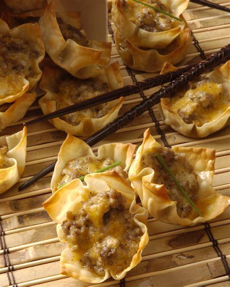 wonton sausage appetizers recipe relish