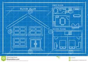 blue prints house blueprint house plan architecture stock vector image 43538785