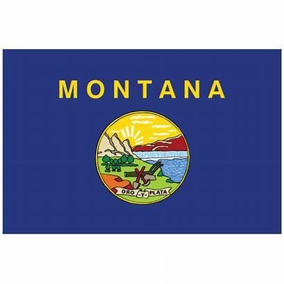 Montana Flag State Magnet Mt