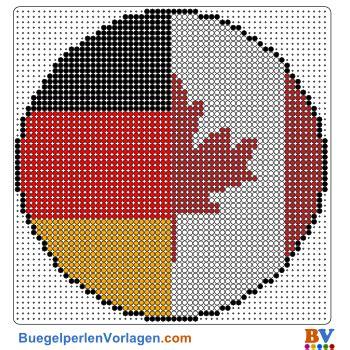buegelperlen vorlagen von der flagge kanada deutschland zum