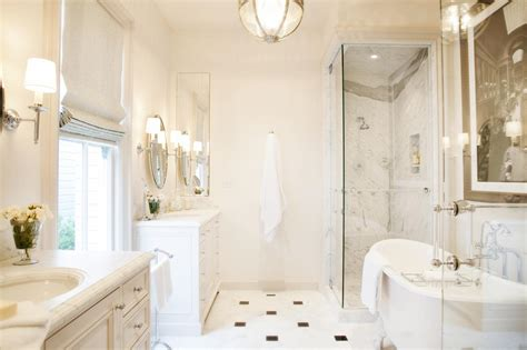 White Spa Bathroom by Traditional White Spa Bathroom With Glass Walk In Shower