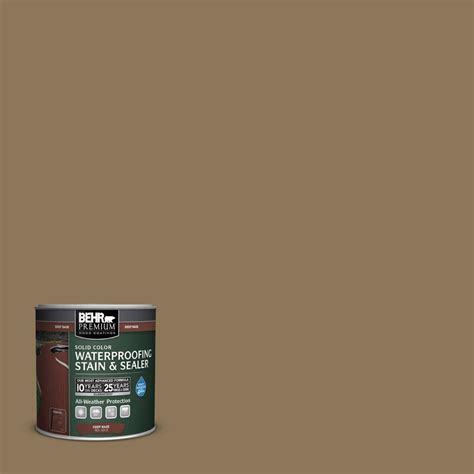 behr premium 8 oz sc 153 taupe solid color waterproofing