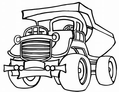 Coloring Truck Pages Dump