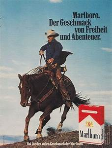 Marlboro Zigaretten Historische Werbeanzeige Original
