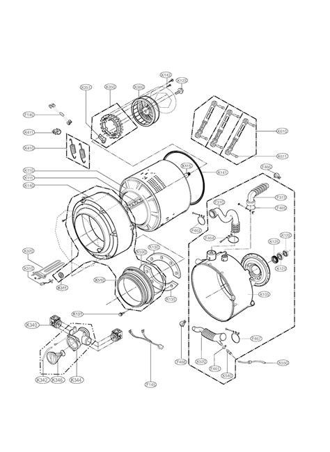 lg front load washer parts diagram automotive parts