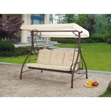 mainstays bellingham 2 seat wrought iron cushion swing