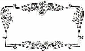 Vintage Fancy Frame Clipart - The Cliparts