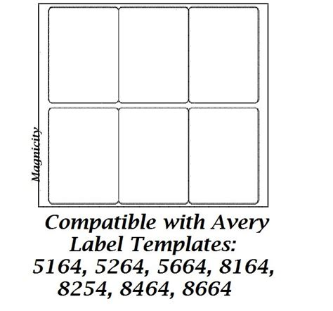 Avery 8164 Template by Avery Template 5164 For Word Images