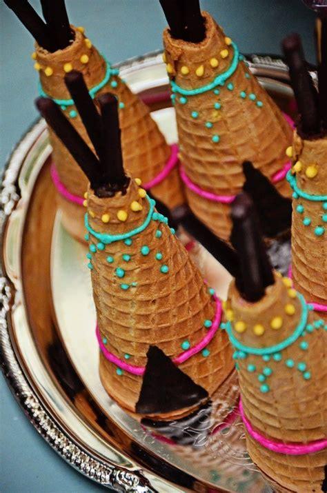 teepee sugar cones   boho tribal birthday party