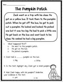 Short Stories with Questions Worksheets 1st Grade